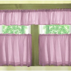 Kitchen Cafe Curtains Knobs And Handles Solid Violet Purple Style Tier Curtain Includes 2 Valances Violetpurplesolidcoloredtierkitchen Cafecurtainsandvalances Jpg