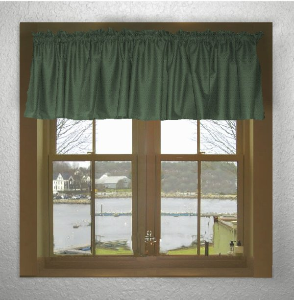 Solid Hunter Green Color Valance In Many Lengths  Custom Size