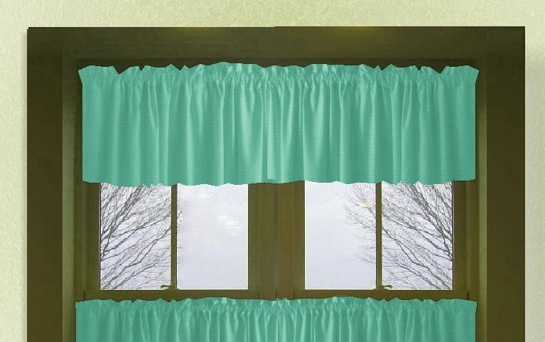 Solid Jade Green Color Valance In Many Lengths  Custom Size