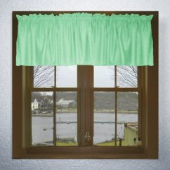 Custom Kitchen Rugs Appliance Parts Solid Mint Green Color Valance In Many Lengths - Size