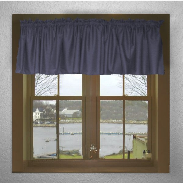Solid Navy Blue Color Valance In Many Lengths  Custom Size