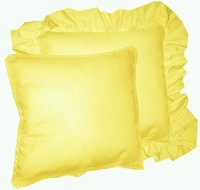 Solid Lemon Yellow Colored Accent Pillow with Removable ...