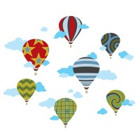 Hot Air Balloons Wall Decals