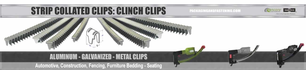 sofa spring clip strip cama modernos bogota clinch clips collated packaging and fastening e in format are here at packagingandfastening com