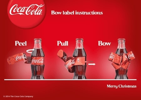 Christmas Bow Label For Coca Cola Packaging Connections