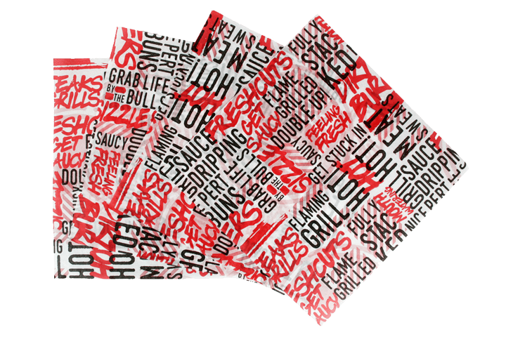 bespoke custom printed greaseproof paper tissue