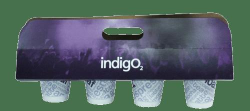 bespoke printed cup holders or drinks carrier