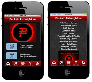 freight forwarding app packair android shipping