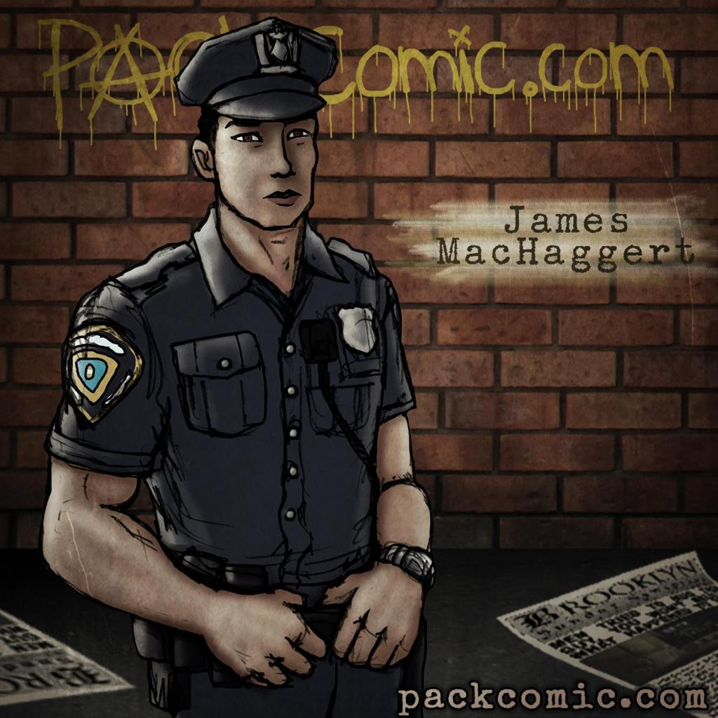 James MacHaggert - Cop | PACK comic Character Bio