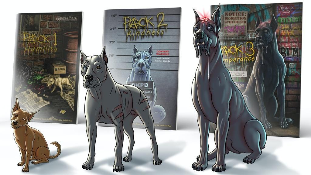 pack 3 temperance comic book prelaunch kickstarter