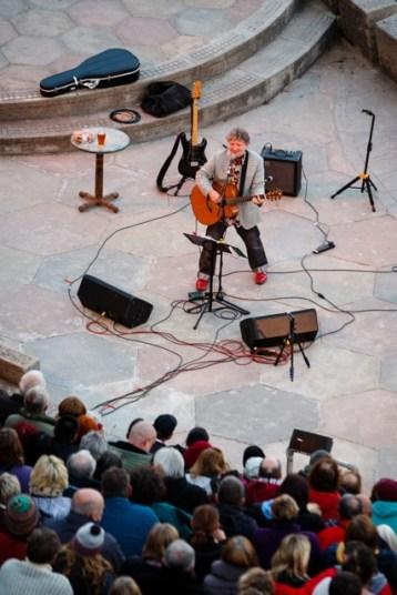 Glenn Tilbrook live at The Minack. Photograph by Steve Tanner