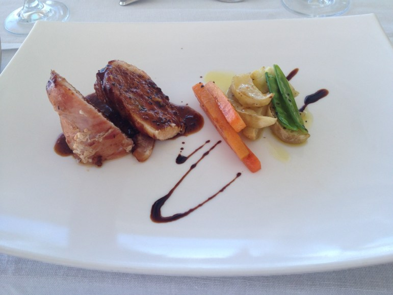 Over Water Restaurant: the food