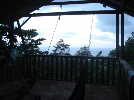 Our terrace with hammocks