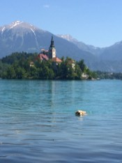 Swimming on Lake Bled