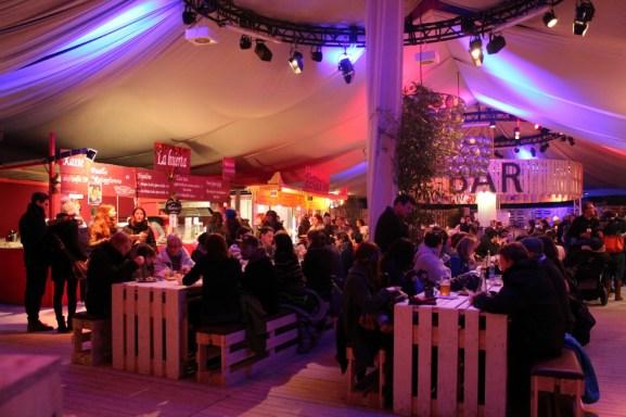 Tent with restaurants