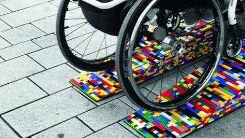 Legosteine helfen bei Barrierefreiheit