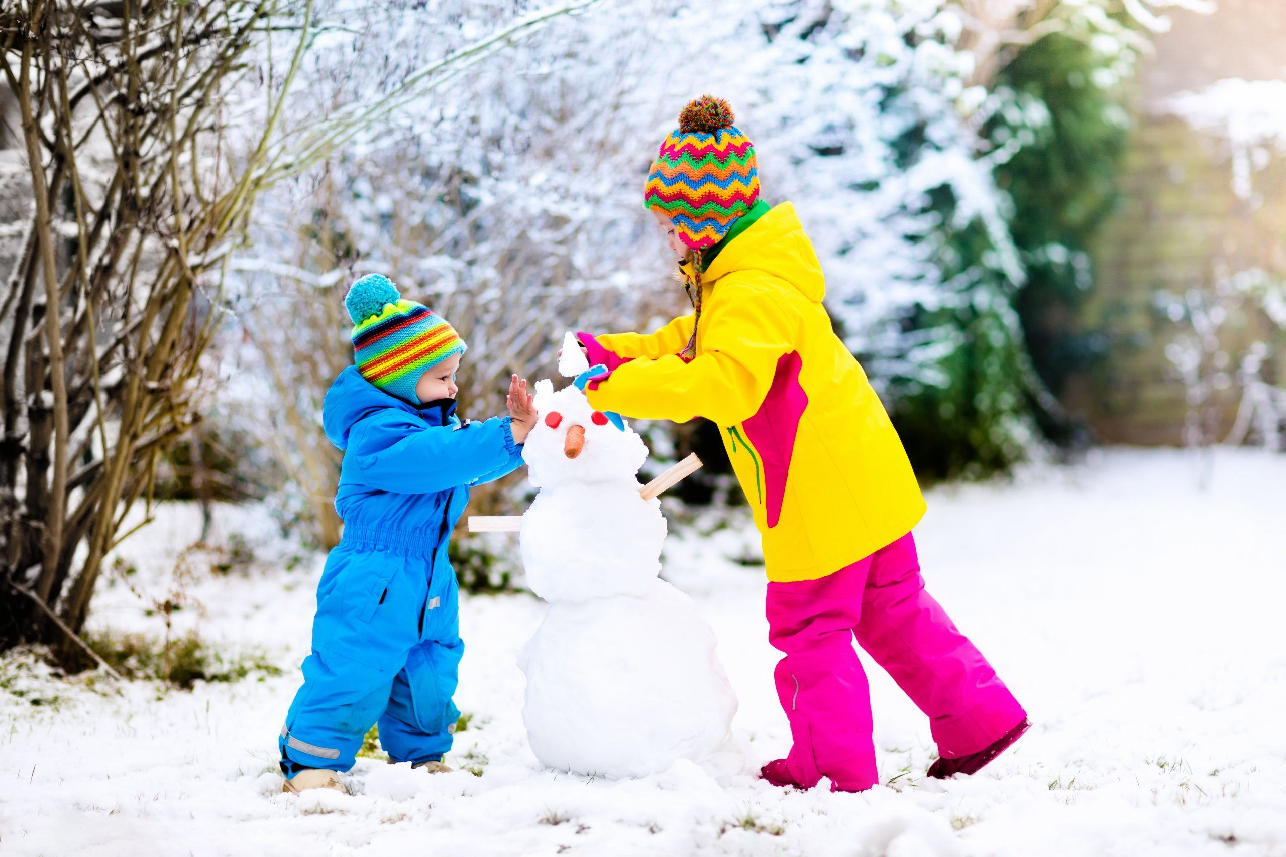 Dressing Kids For The Winter Weather With Adult