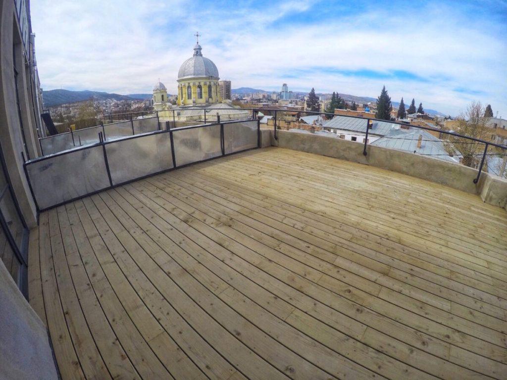 View of Terrace - Fabrika Hostel Tbilisi | Packs Light
