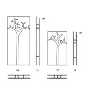 Coat rack Swedese (tree design) - Packtoo