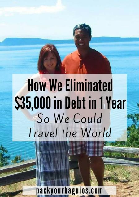 How We Eliminated $35,000 in Debt in 1 Year So We Could Travel the World