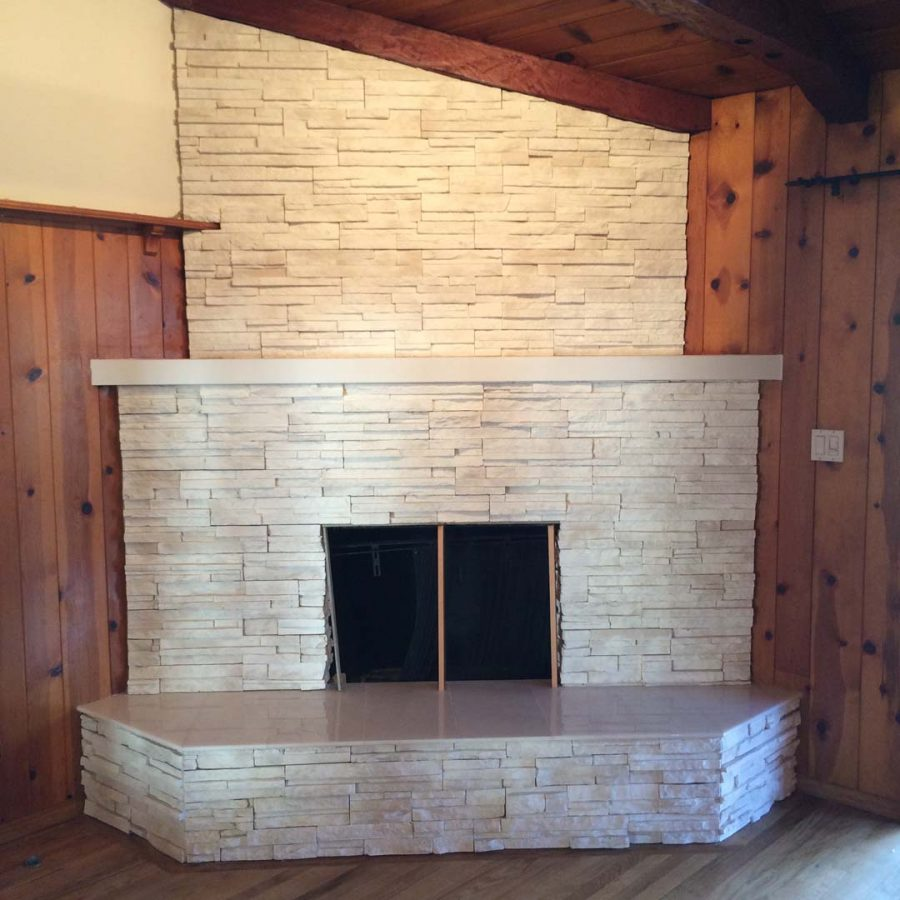 Burbank Stone Fireplace Remodel  Pacificland Constructors