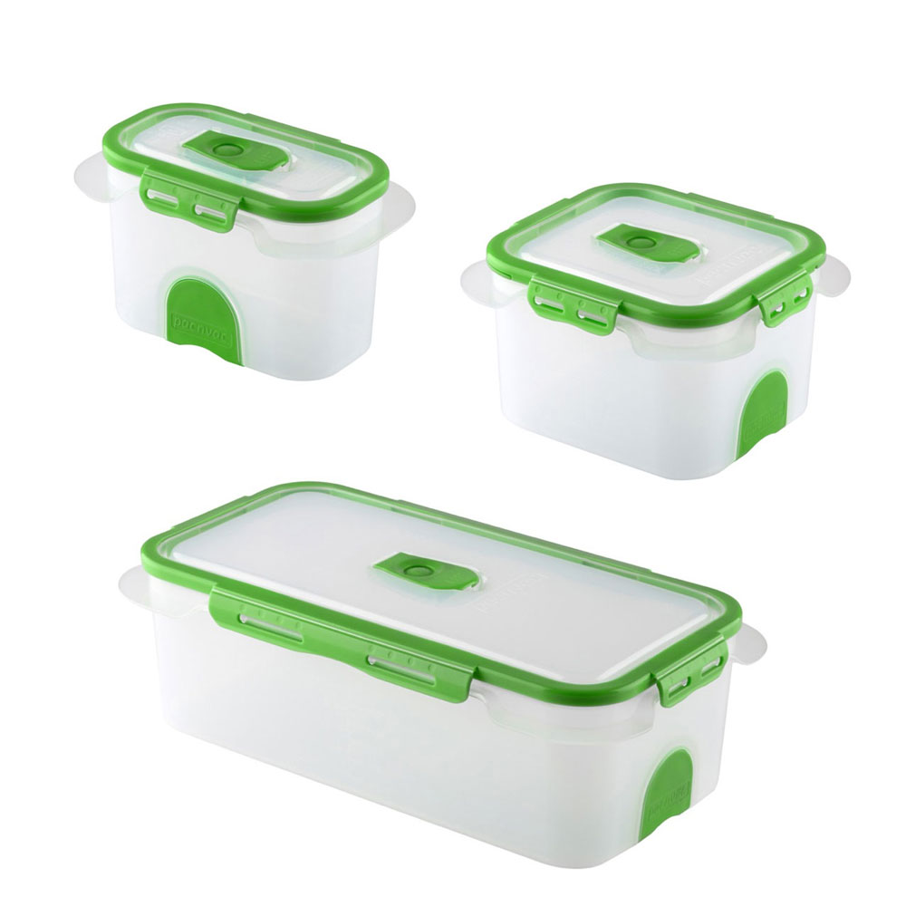 Superb Professional Food Storage Containers Part - 3: Professional Vacuum Food Storage Container Set Green