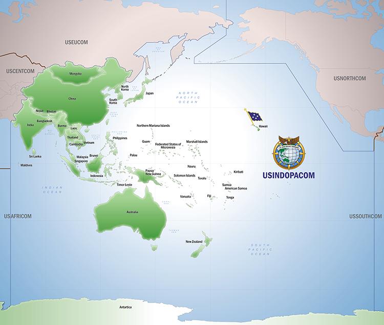 U.S. Indo-Pacific Command > About USINDOPACOM > USPACOM Area of  Responsibility