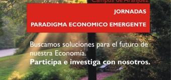 Cartelería jornadas Paradigma Económico Emergente