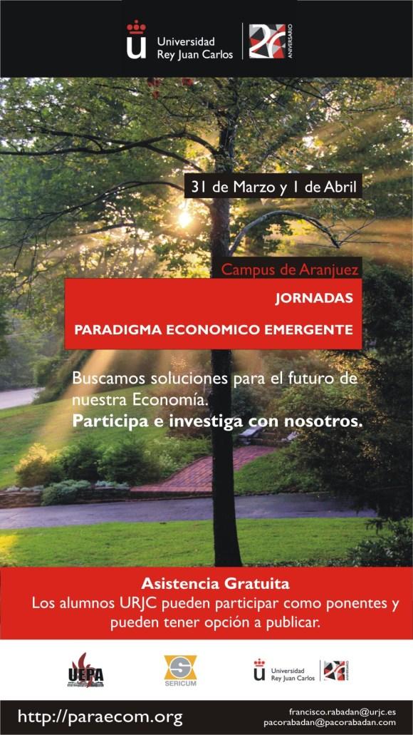 Cartel Jornadas Paradigma Económico Emergente Aranjuez 2016