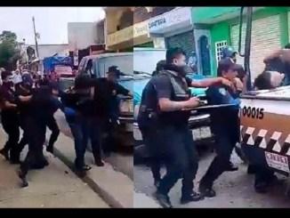 Exhiben a policías golpeando a un detenido en Chiapas #VIDEO