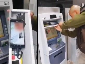 Un celular escondido dentro del cajero, esta es la nueva forma para robar tu nip #VIDEO