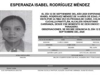 Esperanza Isabel, tiene 14 años y desapareció en la Venustiano Carranza #AlertaAmber