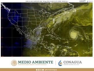 El SMN pronostica lluvias intensas en Hidalgo, Oaxaca, Puebla y Veracruz