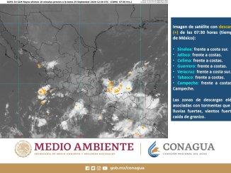 El SMN prevé intensas lluvias para Chiapas y Oaxaca, y muy fuertes en Guerrero, Puebla y Veracruz