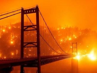 Anaranjado amaneció el cielo EE.UU. por múltiples incendios