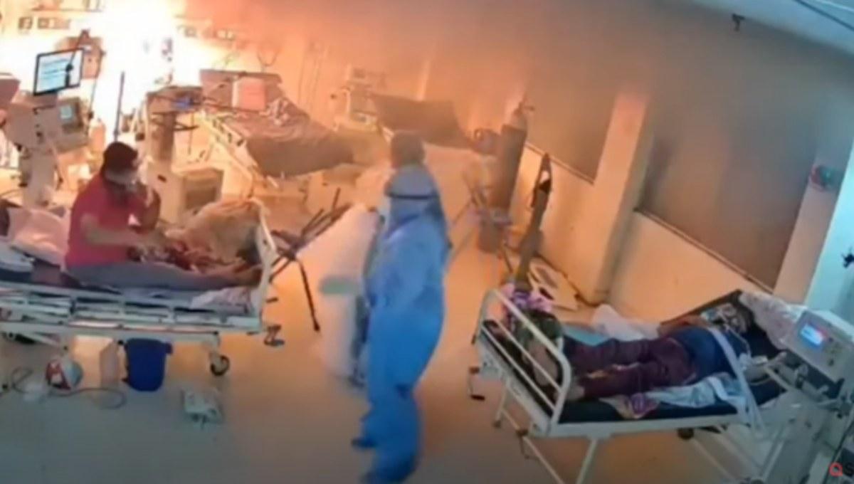 Ventilador explota frente a pacientes en zona de COVID-19
