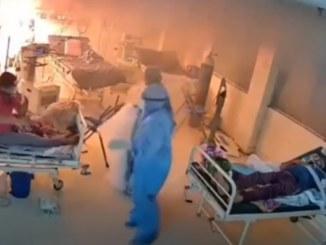 Explota ventilador para pacientes con Covid-19, causa incendio #VIDEO