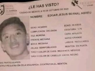 Edgar desapareció en la alcaldía Cuauhtémoc, ayudemos a que pronto vuelva a casa