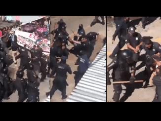 Decenas de lesionados deja enfrentamiento entre plicías y habitantes de San Jerónimo Bachajón, Chiapas #VIDEO