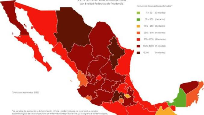 México suma 6 mil 25 casos nuevos de Covid-19 y 431 muertes