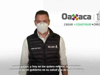Alejandro Murat informa que Oaxaca regresa al semáforo naranja