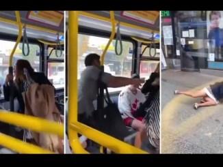 Sacan de un aventón a mujer que escupió a un pasajero dentro de un camión #VIDEO