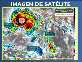 Zeta se degrada a tormenta tropical pero llega el frente frío 10 con la primer tormenta invernal