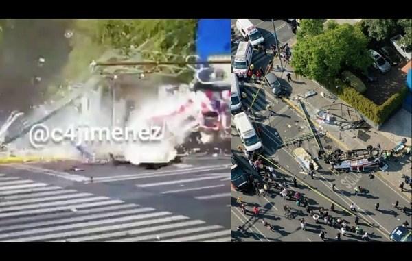 Así se vivió la volcadura de una ambulancia en Eje Central y Eje 8 Sur #VIDEO