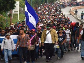 Arranca primera caravana de migrantes de la pandemia, va de Honduras a EUA