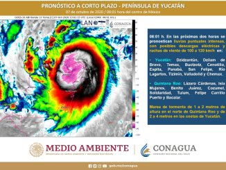 La Península de Yucatán registrará intensas lluvias por el huracán Delta, extremen precauciones