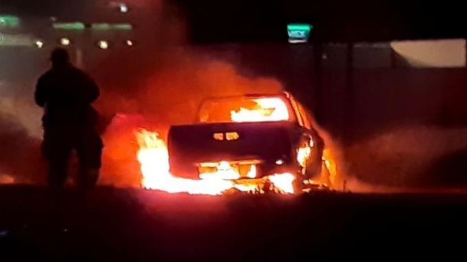Narcobloqueos y quemas en Veracruz, se atribuyen al CJNG