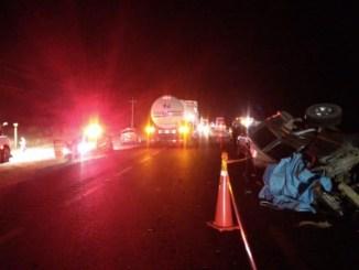Policías de Tamaulipas mueren tras volcar en carretera a Tampico