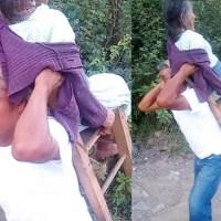 Hombre en Hidalgo carga sobre sus espaldas enfermos Covid para llevarlos al hospital