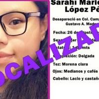 Tras dos años y medio, localizan en la frontera a jovencita desaparecida en la CDMX